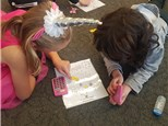 """4th graders play """"Making Pathways-Multiplication""""©, in which they work backwards to find products on a game board that use 6 as a multiplier!"""