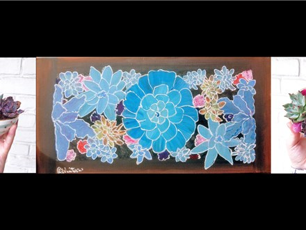 07/27 GA Paint & Plant Succulent Workshop 2 PM $55 painting to be completed