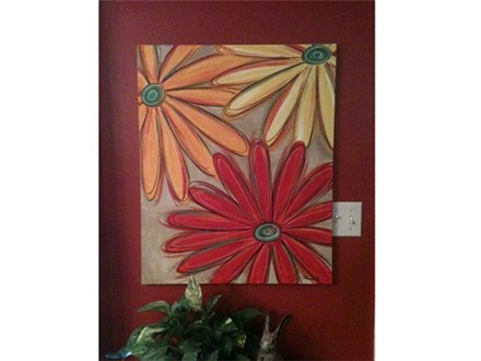 Fall Daisies Canvas and Cocktails