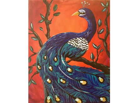 """Poised Peacock"""