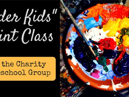 Older Kids Paint Class for the Charity Homeschool Group 4/13/17 Chickadee Painting (and make-up cla