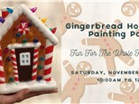 Gingerbread House Painting Party at Craft Haus!