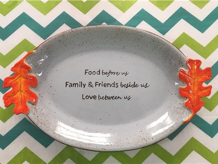 Friends, Feast, Masterpiece - Leaf Platter 11/04