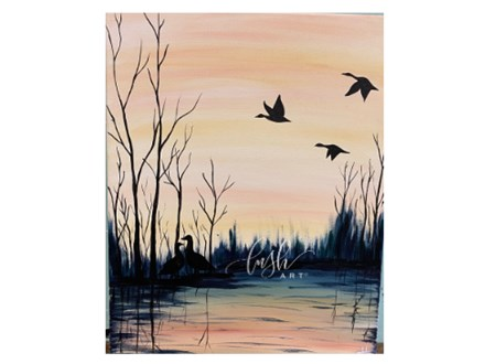 Geese Paint Class