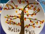 Kids Fingerprint Tree Plate - October 29th