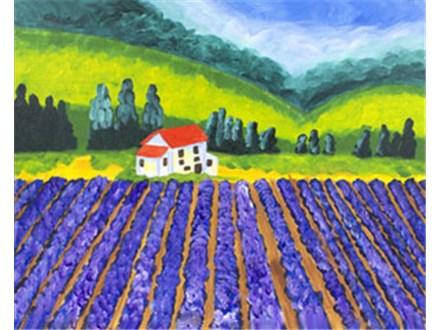 Lavender Fields-Canvas & Cocktails