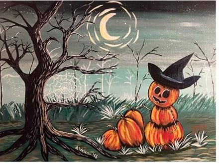 Halloween Pumpkin Man - Canvas - Paint and Sip