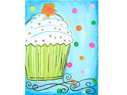 Summer Kids' Canvas Class! Cupcake! 6/25/18