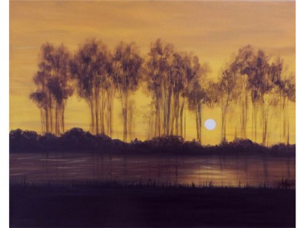 River Sunset - 16x20 canvas
