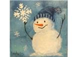 Winter Snowflakes - 12x12 canvas