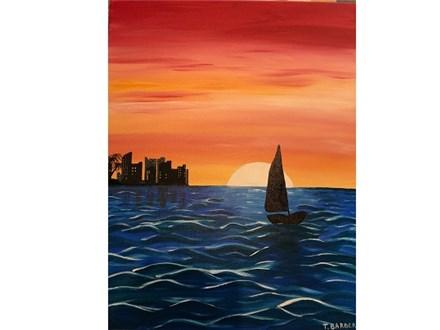 Canvas & Wine Night! Sailing into the Skyline! 1/25/19