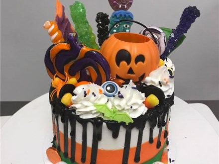 Parent/Child Halloween Drip Cake