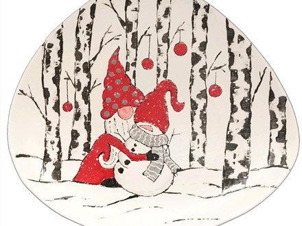 Private Hugging Snowman Platter - Jan 25th 6pm