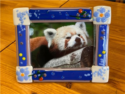 "Glass Fused 5"" X 7"" Picture Frame"