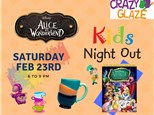 Ticket for Crazy Glaze Studio's Kids Night Out Feb 23rd