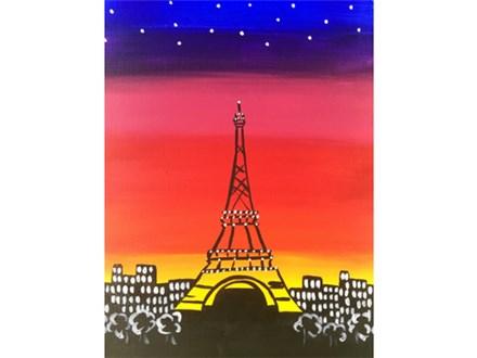 Adult Class Paris Canvas Painting 09/09