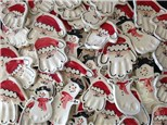 Clay Santa and Snowmen Ornaments