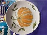 Pumpkin Round Plate Class - November 17th 6:30pm