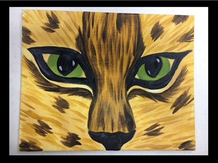 02/26 Guest Artist-Family Friendly-Acrylic: Leopard Eyes $25 4PM