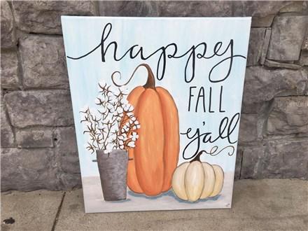 Happy Fall Nov. 4th Canvas Class