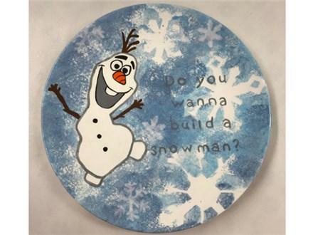 Olaf Plate Kids Ceramic - 12/21