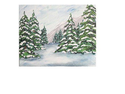 Snow on the Pines - Canvas - Paint and Sip