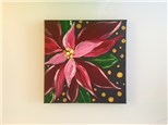 Pink Poinsettia (adult) Canvas Class