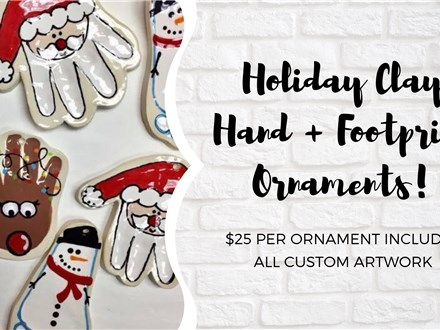 Holiday Clay Hand & Footprint Ornaments!