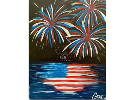 Fireworks Paint Class @ JUST TAP'D