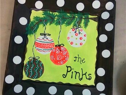 Whimsical Ornaments Custom Name Platter ~ Pottery Class