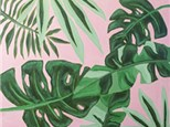Adult Canvas - Tropical Leaves - 06.27.17