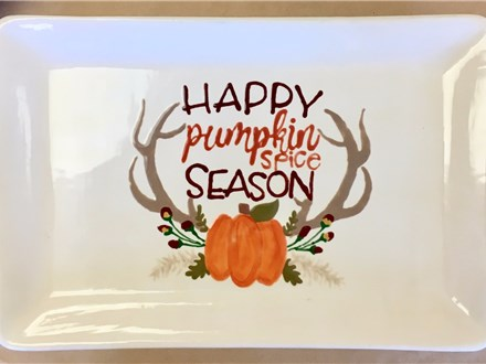 Pottery Painting - Pumpkin Spice Platter - Morning Session - 10.13.17