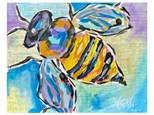 Mixed Media Bee Paint Class - WR