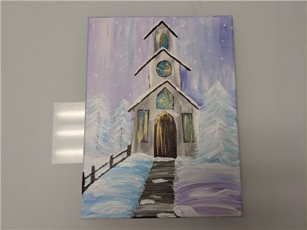 Winter Chapel Adult Canvas Class $35
