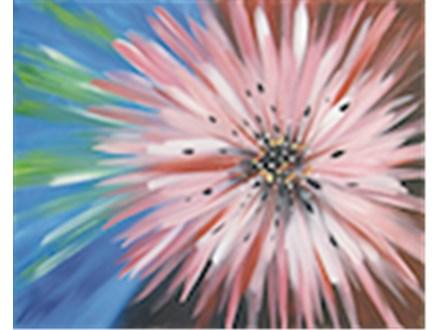 """""""Flower Burst"""" Canvas Class, September 6th"""