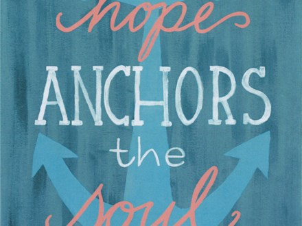 Adult Canvas - Hope Anchors the Soul - 07.05.19