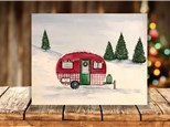 """""""Christmas Camper"""" Canvas Sip & Paint Event ages 21 & up 12/21/20"""