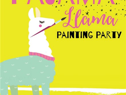 Kids Night Out Llama Pajama Painting Party - Friday, February 28th: 6:00-8:00PM