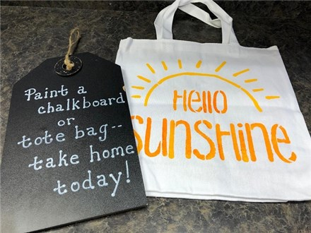 Tote Bag/Chalkboard Sign Party