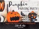 Pumpkin painting party @ Color Me Mine Norman