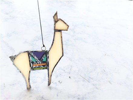 DIY Stained Glass Llama