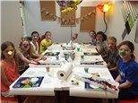 Kids Art Party at I Made It! Glass Creations - Sun Catcher!