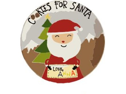 Kid's Pottery - Cookies for Santa Plate - Evening Session - 12.12.18