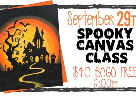 Sept. 29th Spooky Canvas Class