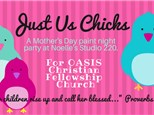 """Just Us Chicks"" Mothers Day Paint Night for OASIS church 5/12/17"