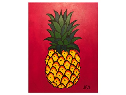 Adult Class Pinapple Canvas Painting 08/26