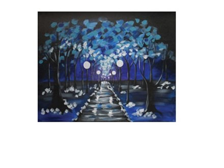 Winter's Eve - Canvas - Paint and Sip