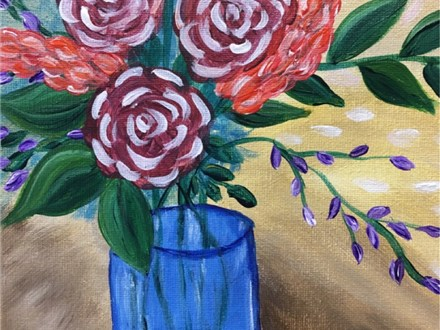 Rose Blossoms Canvas Painting Event