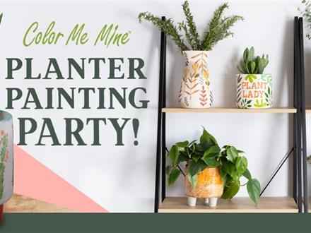 Apr 23rd • Planter Painting Party • Color Me Mine Aurora