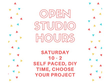 Open Studio - DIY, Self-Paced - April 21